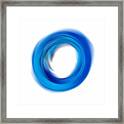 Soft Blue Enso - Abstract Art By Sharon Cummings Framed Print by Sharon Cummings