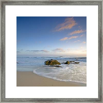 Soft Blue Skies Framed Print