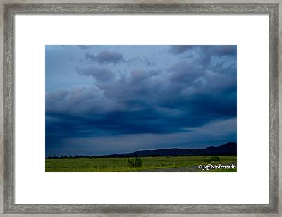 Soft Blue Sky Framed Print