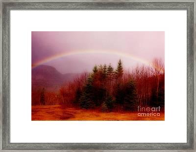 Soft Cape Breton Rainbow Framed Print