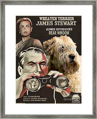 Soft-coated Wheaten Terrier  - Wheaten Terrier Art Canvas Print - Rear Window Movie Poster Framed Print by Sandra Sij