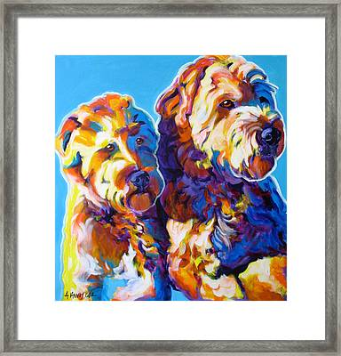 Soft Coated Wheaten Terrier - Max And Maggie Framed Print by Alicia VanNoy Call