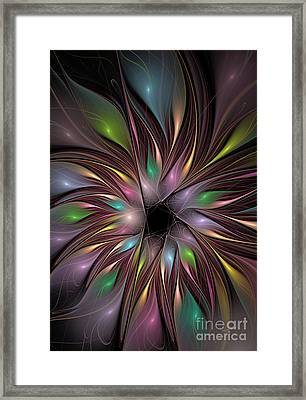 Soft Colors Of The Rainbow Framed Print