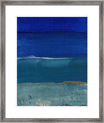 Soft Crashing Waves- Abstract Landscape Framed Print by Linda Woods