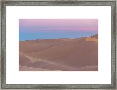 Soft Desert Dunes Framed Print by Peter Tellone