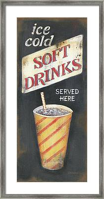 Soft Drinks Framed Print by Kim Lewis