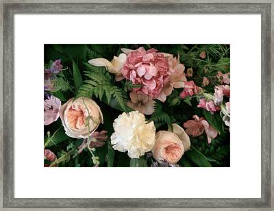 Soft Floral Bouquet In Pink Framed Print by Linda Phelps
