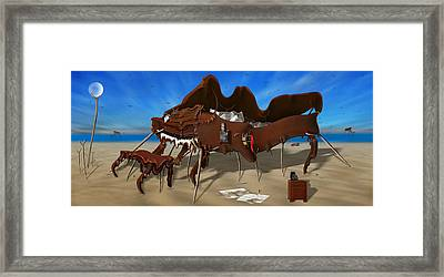 Soft Grand Piano With Camera - Panoramic Framed Print