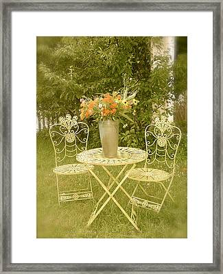 Soft Greens At The Mill Framed Print