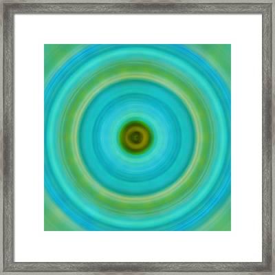 Soft Healing - Energy Art By Sharon Cummings Framed Print