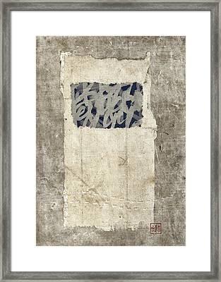 Soft Indigo Framed Print by Carol Leigh