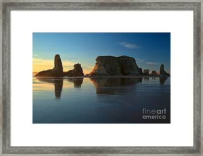 Soft Light At Bandon Framed Print by Adam Jewell