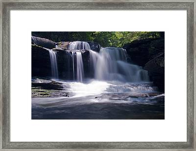 Soft Light Dunloup Falls Framed Print