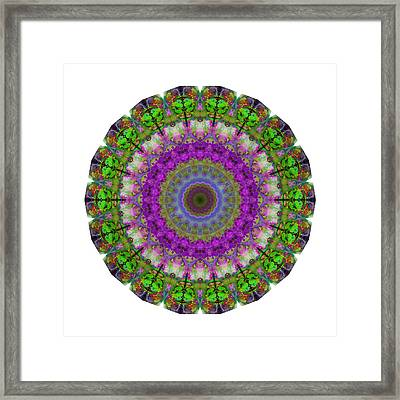 Soft Light - Kaleidoscope Mandala By Sharon Cummings Framed Print