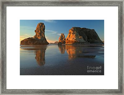 Soft Light On The Stacks Framed Print by Adam Jewell