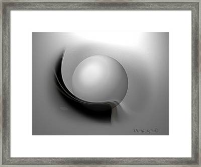 Soft Moon Framed Print