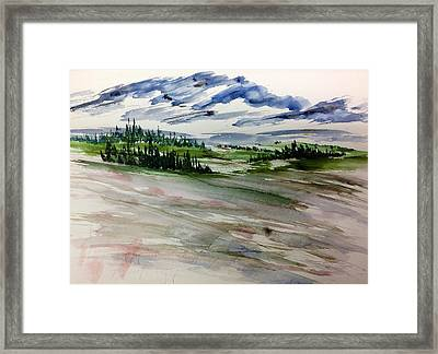 Soft Mountain Wash Framed Print