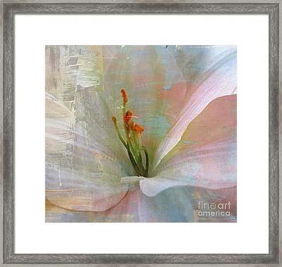 Soft Painted Lily Framed Print