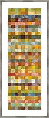 Soft Palette Rustic Wood Series Collage L Framed Print by Michelle Calkins