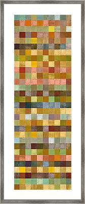 Soft Palette Rustic Wood Series Collage Ll Framed Print by Michelle Calkins