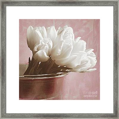 Soft Pink And White Framed Print