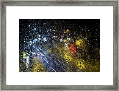 Soft Pitter Patter Of Rain Framed Print by EXparte SE
