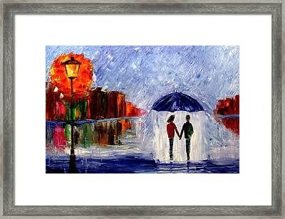 Soft Rain Framed Print by Mariana Stauffer