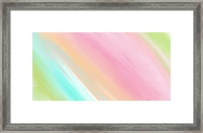 Soft Rainbows Framed Print