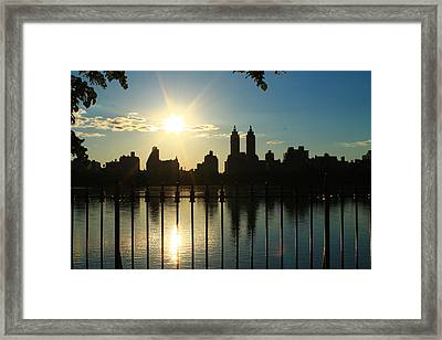 Soft Reflections Framed Print
