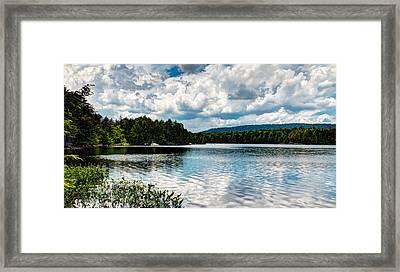 Soft Ripples On Bubb Lake Framed Print by David Patterson