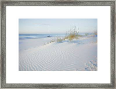 Soft Sandy Beach Framed Print
