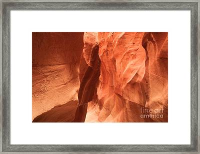 Soft Sculpted Sandstone Walls Framed Print by Adam Jewell