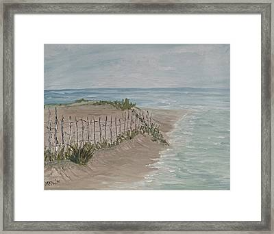 Soft Sea Framed Print by Barbara McDevitt