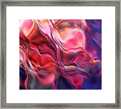 Soft Streamlines Framed Print