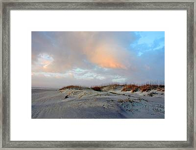 Framed Print featuring the photograph Soft Sun Rise by Allen Carroll