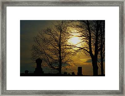 Soft Sun Set Framed Print
