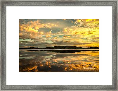 Framed Print featuring the photograph Soft Sunset by Rose-Maries Pictures