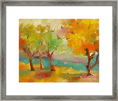Soft Trees Framed Print by Michelle Abrams