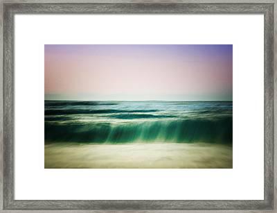 Soft Water At Sunrise Framed Print by Vicki Jauron