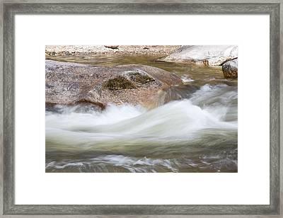 Soft Water Framed Print