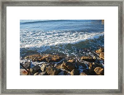 Soft Waves Framed Print by George Katechis