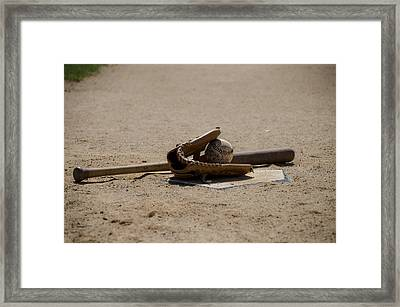 Softball Framed Print by Bill Cannon