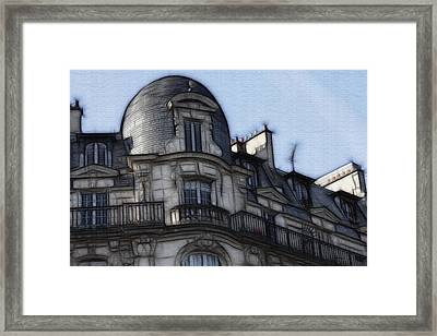 Softer Side Of Paris Architecture Framed Print