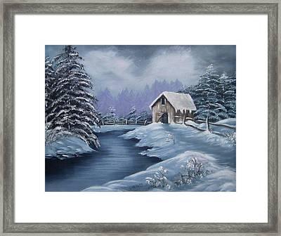Softest Snow Framed Print