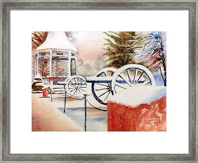 Softly Christmas Snow Framed Print by Kip DeVore