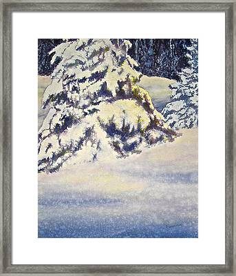 Softly Comes The Morning Framed Print by Carolyn Rosenberger