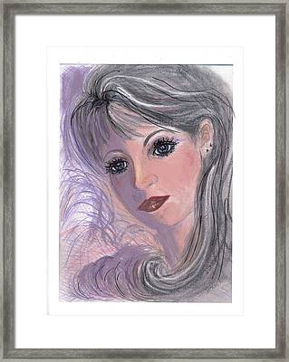 Framed Print featuring the mixed media Softly by Desline Vitto