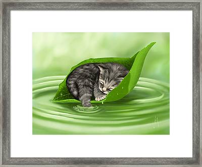 Softly Lulled Framed Print