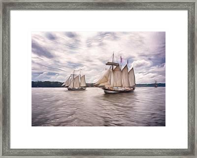 Softly Sailing Framed Print by Georgiana Romanovna