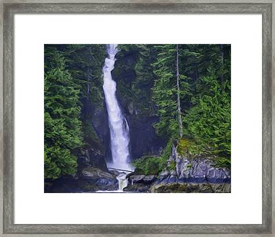 Softness Overcoming Hardness Framed Print by Jordan Blackstone